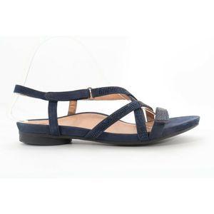Abeo Sylvie Sandals Navy Stones Size 9 (EPB )4363